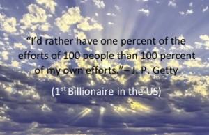 J P Getty quote